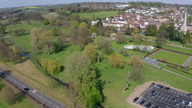 hemel hempstead aerial - town stock videos & royalty-free footage