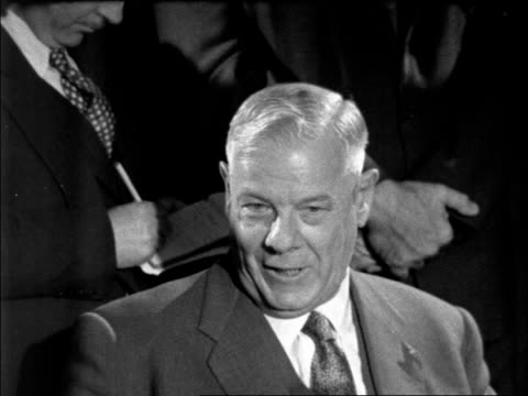 "hendrik verwoerd press conference on apartheid; england: london: lap pkf:verwoerd: ""no, we are not prepared to change the policy, but when i say... - {{relatedsearchurl(carousel.phrase)}} video stock e b–roll"