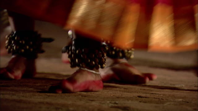henna painted feet perform a traditional east-indian dance. - tradition stock videos & royalty-free footage