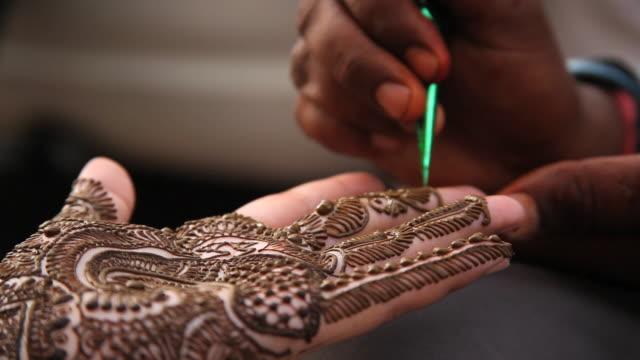Mehndi Tattoo Hd : Henna tattoo videos and b roll footage getty images