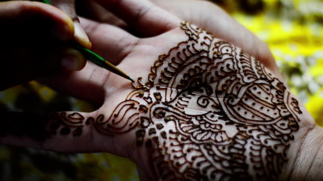 henna tattoo - wedding stock videos & royalty-free footage