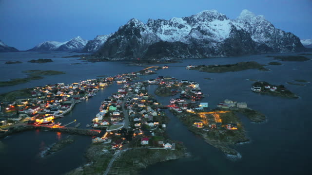henningsvaer at lofoten islands, norway - nordland county stock videos & royalty-free footage