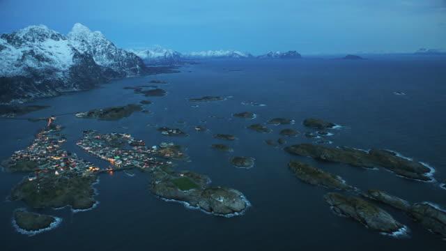henningsvaer at lofoten islands - soccer field stock videos & royalty-free footage