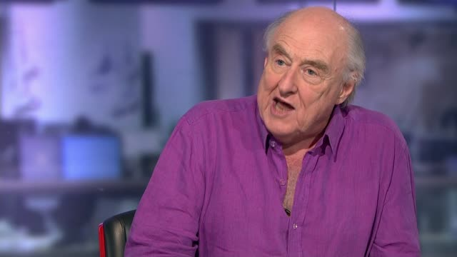 stockvideo's en b-roll-footage met henry blofeld to retire after 45 years of cricket commentary england london gir int henry blofeld studio interview sot - channel 4 news