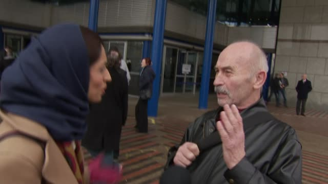henry bolton sacked as ukip leader england west midlands birmingham international convention centre ext various shots ukip supporters arguing outside... - west midlands stock videos and b-roll footage