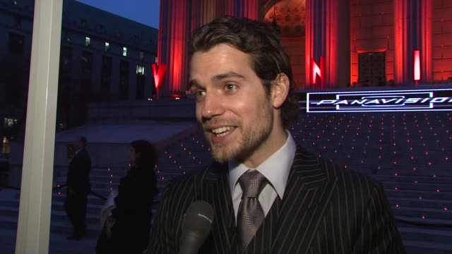Henry Cavill on his character in the film working with Woody Allen how it feels to have his film open and be apart off the festival and the...