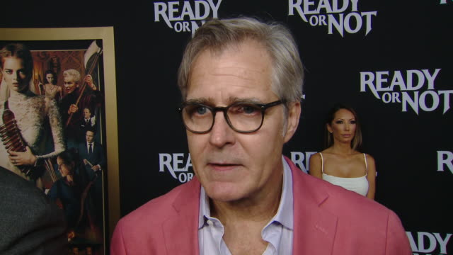 """interview henry czerny on his character and making the movie at the """"ready or not"""" los angeles special screening presented by fox searchlight... - fox searchlight pictures stock videos & royalty-free footage"""