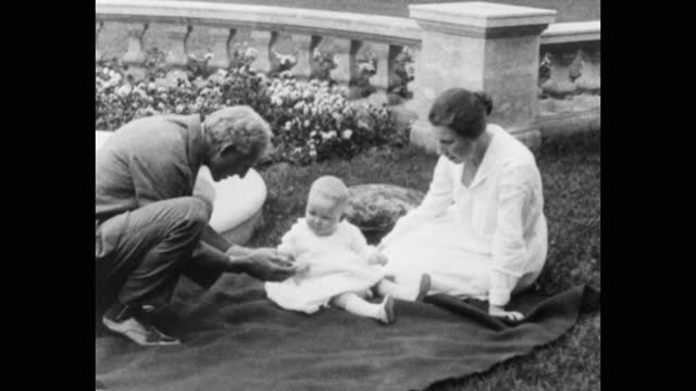 henry ford and clara bryant ford playing with toddler in garden, michigan, usa - one animal stock videos & royalty-free footage