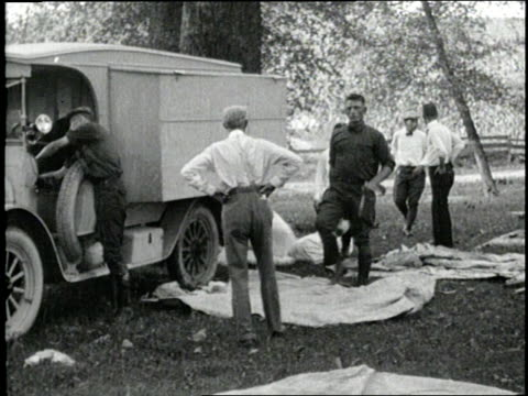 Henry Ford and Thomas Edison go on a camping trip with friends