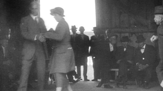 henry ford dancing with his wife, clara bryant, at a country dance. - anno 1920 video stock e b–roll