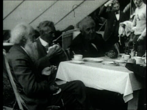 henry ford going camping and visiting edison's laboratory with us president herbert hoover / united states - henry ford founder of ford motor company stock videos & royalty-free footage