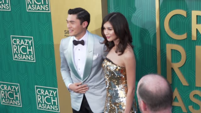 Henry Golding and Gemma Chan at the 'Crazy Rich Asians' Premiere at TCL Chinese Theatre on August 07 2018 in Hollywood California