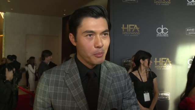 INTERVIEW Henry Golding on the most exciting aspects of the Hollywood Film Awards at the 22nd Annual Hollywood Film Awards at The Beverly Hilton...