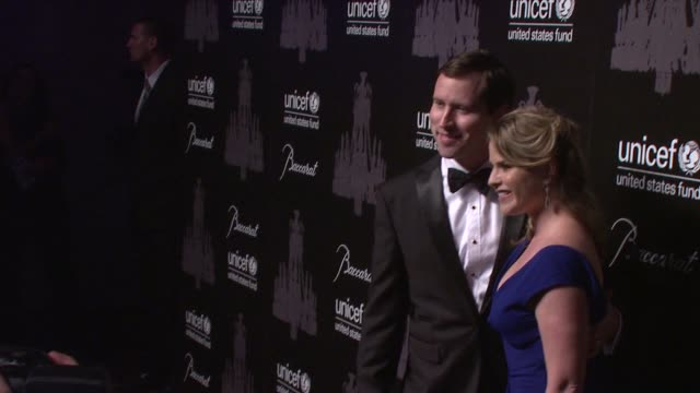 henry hager and jenna bush hager at the ninth annual unicef snowflake ball at cipriani, wall street on in new york city. - cipriani manhattan stock videos & royalty-free footage