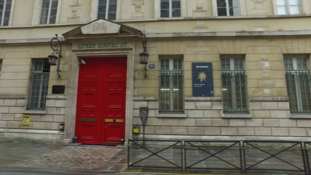 henry iv high school in paris on march 16, 2020 on the first day of the official closing of schools, following the announcement of the president of... - secondary school stock videos & royalty-free footage