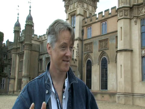 henry lytton-cobbold, knebworth house owner, on whether metal fans are tidy and quiet at the sonisphere day two at stevenage england. - お祭り好き点の映像素材/bロール