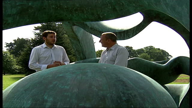 henry moore exhibition at kew gardens; david yard interview sot - henry moore stock videos & royalty-free footage