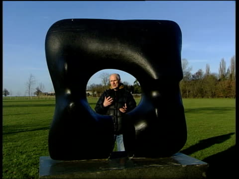 henry moore sculpture theft; llewellyne interviewed sot - astonishing, its very big and heavy/ no theft of this kind ever taken place before... - henry moore stock videos & royalty-free footage