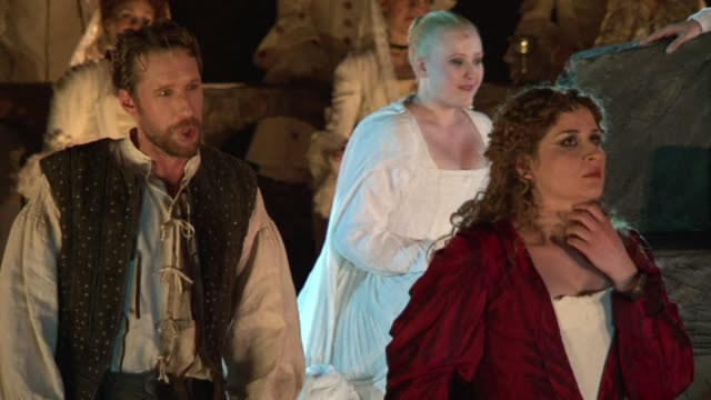 henry purcells opera dido and aenaes opens the season at romes baths of caracalla ruins with a new production the director described as uniting the... - baths of caracalla stock videos and b-roll footage