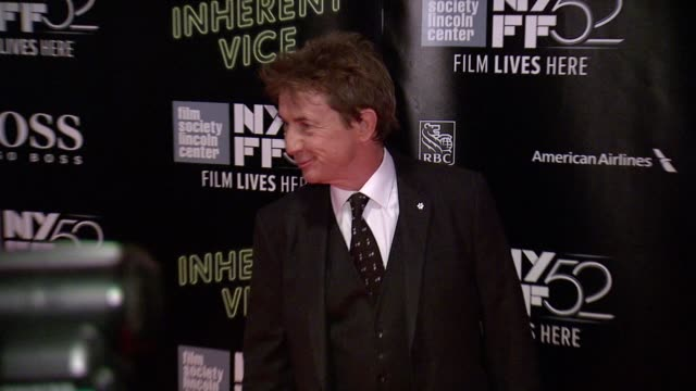 "henry short and martin short at 52nd new york film festival - ""inherent vice"" centerpiece gala presentation & world premiere at alice tully hall,... - martin short stock videos & royalty-free footage"