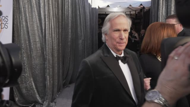 henry winkler at the 25th annual screen actors guild awards social ready content at the shrine auditorium on january 27 2019 in los angeles california - screen actors guild stock videos & royalty-free footage