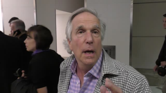 interview henry winkler talks about the super bowl while departing at lax airport in los angeles in celebrity sightings in los angeles - super bowl stock videos & royalty-free footage