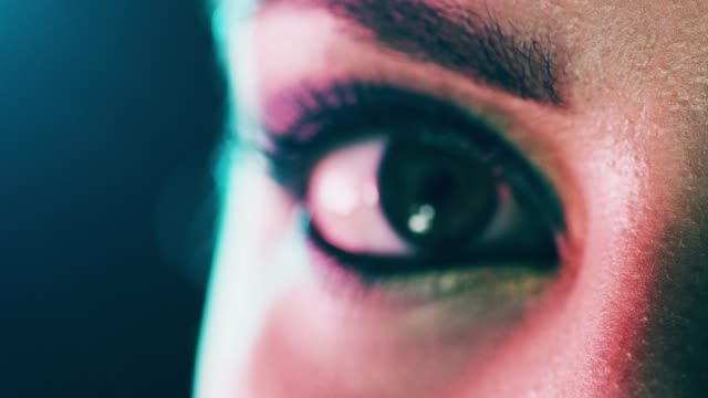 her eyes are dressed up with drama - person blinking stock videos & royalty-free footage
