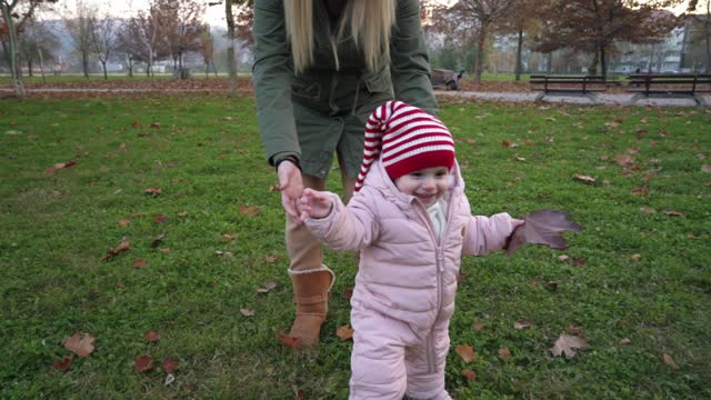 her first steps! - cute stock videos & royalty-free footage