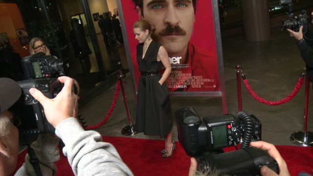 """her"""" los angeles premiere in los angeles, ca, on . - premiere event stock videos & royalty-free footage"""