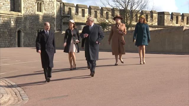 her majesty the queen attends traditional easter sunday service at windsor castle at st george's chapel on march 31 2013 in windsor england - religious service stock videos & royalty-free footage