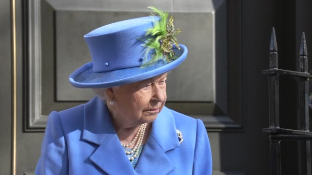 her majesty the queen on february 14 2019 in london england - elizabeth ii stock videos & royalty-free footage