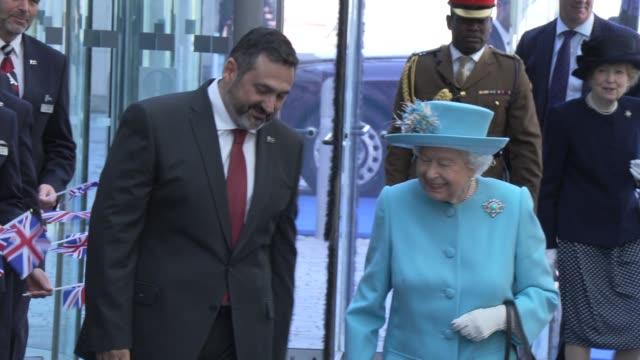 GBR: Her Majesty The Queen visits the headquarters of British Airways, Heathrow, to mark their centenary year