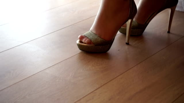 her wedding shoes - sandal stock videos and b-roll footage