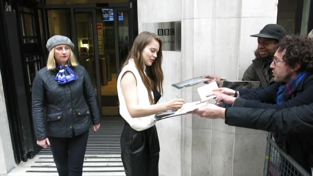 hera hilmarsdóttir at bbc radio 2 at celebrity sightings in london on november 26, 2018 in london, england. - bbc radio stock videos & royalty-free footage