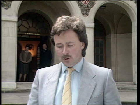 stockvideo's en b-roll-footage met herald of free enterprise ferry disaster inquiry day 7 england london westminster church house ext ms leslie sable arriving with woman and man rl cms... - ramp veerboot zeebrugge 1987
