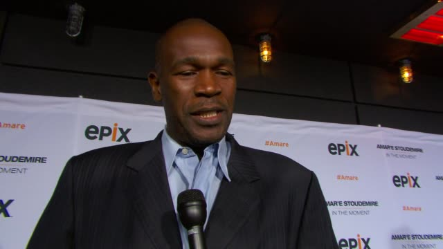 INTERVIEW Herb Williams talks about Amare Stoudemire shares his favorite Knicks memory on upcoming mother's day at EPIX Premiere Of Amare Stoudemire...