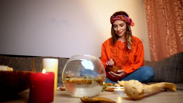 Herbalist woman