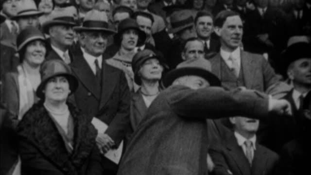 herbert hoover throwing out first pitch at world series / new york city new york usa - herbert hoover us president stock videos & royalty-free footage