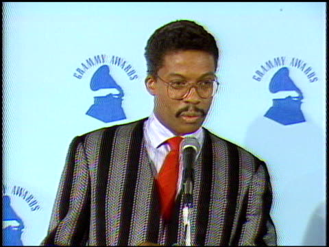 herbie hancock at the 1987 grammy awards at the shrine auditorium in los angeles, california on february 24, 1987. - herbie hancock stock-videos und b-roll-filmmaterial