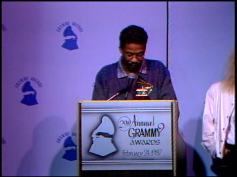 herbie hancock at the 1987 grammy awards nominations at the beverly hilton in beverly hills, california on september 20, 1987. - herbie hancock stock-videos und b-roll-filmmaterial