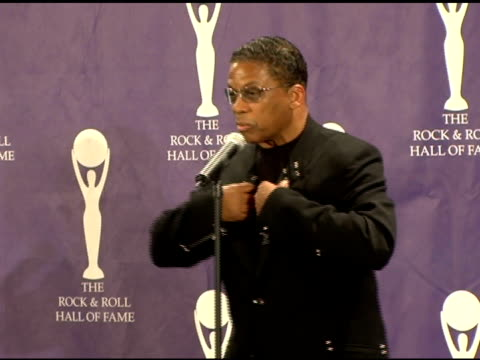 herbie hancock at the 21st annual rock and roll hall of fame induction ceremony press room at the waldorf astoria in new york, new york on march 13,... - herbie hancock stock videos & royalty-free footage