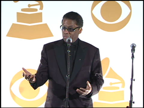 herbie hancock at the 51st annual grammy awards - press room at los angeles ca. - herbie hancock stock videos & royalty-free footage
