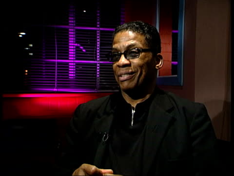 herbie hancock interviewed sot - most of the time i don't have anything playing in my car - herbie hancock stock-videos und b-roll-filmmaterial