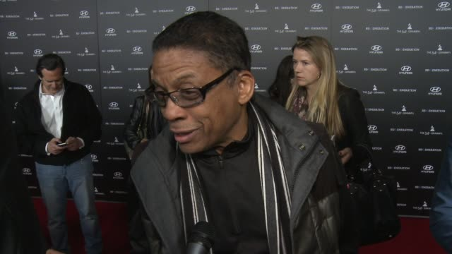 herbie hancock on being a part of the night, which collaboration he's most excited to see in the film at re:generation music project press interviews... - herbie hancock stock-videos und b-roll-filmmaterial