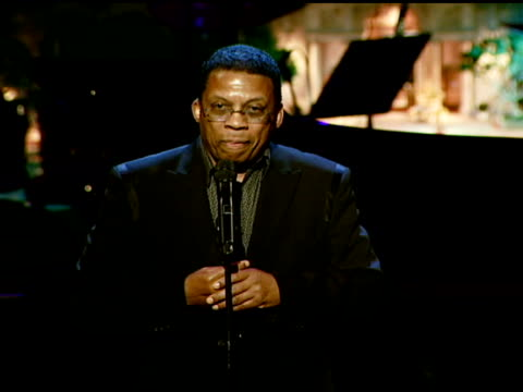 herbie hancock on receiving the herbie hancock humanitarian award at the the thelonious monk institute of jazz and the recording academy® los angeles... - herbie hancock stock-videos und b-roll-filmmaterial