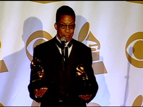 herbie hancock on the grammy awards and his music at the 53rd grammy awards - press room at los angeles ca. - herbie hancock stock-videos und b-roll-filmmaterial