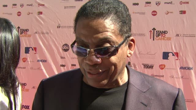 herbie hancock on why he wanted to be involved at the stand up to cancer at los angeles ca. - herbie hancock stock-videos und b-roll-filmmaterial