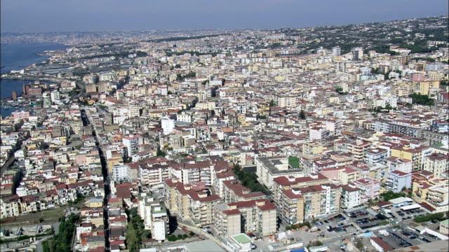 ヘルクラネウム遺跡-航空写真-campania を進み、ナポリ、ercolano,イタリア - ナポリ点の映像素材/bロール