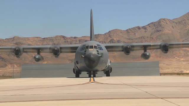 Hercules aircraft from France taxis out for takeoff during Red Flag 143 Jul 22 2014 at Nellis Air Force Base Nev More than 30 countries have...