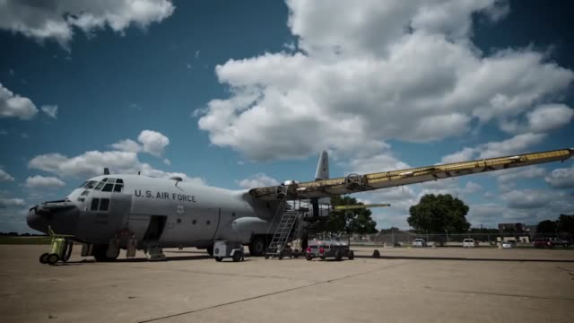 Hercules 'FrankenHurc' is disassembled at the 934th Airlift Wing The parts will be sold and recycled